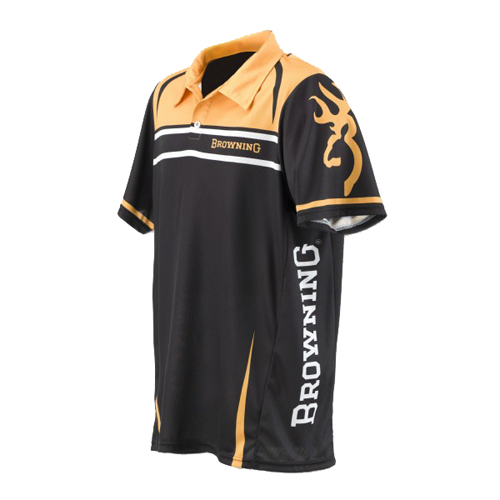 Team Browning Polo Shirt Gold/Black