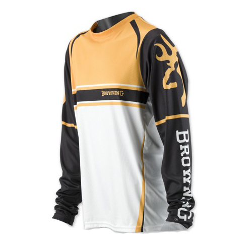 Team Browning Long Sleeve T-Shirt, Gold/Black