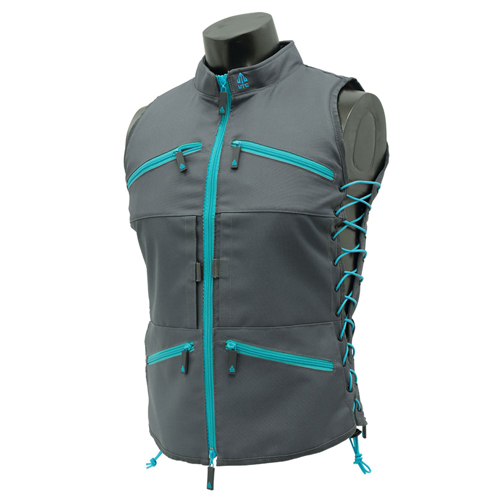 True Huntress Female Vest, Gray/Blue